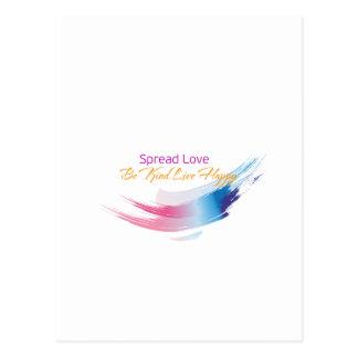 Verbreiten Sie Liebe, seien Sie nettes, Postkarte
