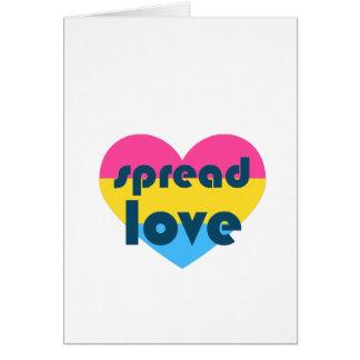 Verbreiten Sie Pansexual Liebe Karte