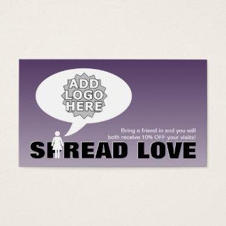 Verbreitungs-Liebe verweisen ein Visitenkarte