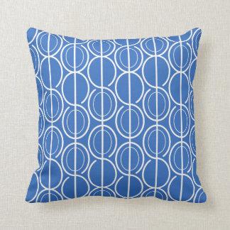 Verbundene ovale Linie Muster-Königsblau u. Kissen