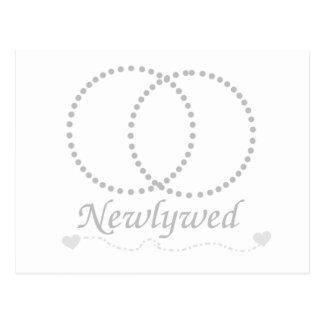 Verbundenes Ring-Jungvermählten Postkarte