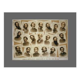 Verbündete Kommandanten 1861-1865 Postkarte