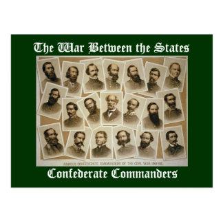Verbündete Kommandanten Postkarte