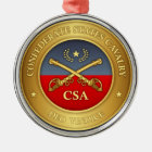 Verbündete Staats-Kavallerie (rd) Silbernes Ornament