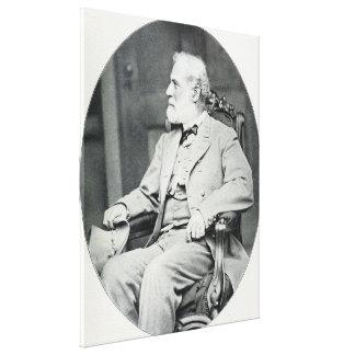 Verbündeter General Robert E. Lee Sitting im Stuhl Leinwanddruck