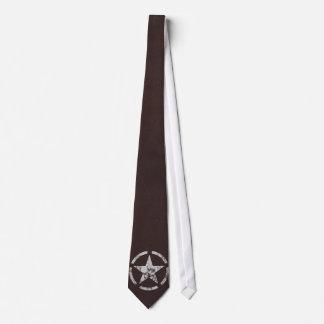 Verbündeter weißer Stern US Vintag Individuelle Krawatten