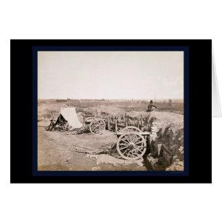 Verbündetes Fort nahe Atlanta, GA 1862 Karte