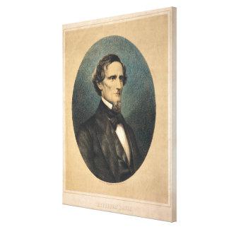 Verbündetes Porträt Präsidenten-Jefferson Davis Leinwanddruck