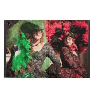 Verdeckte Frauen während des Venedig-Karnevals