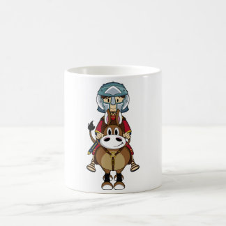 Verdeckte römische Gladiator-u. PferdeTasse Kaffeetasse