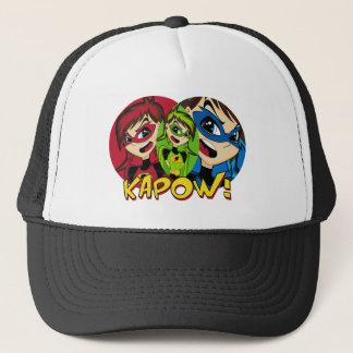 Verdeckte Superheld-Mädchen-Kappe Truckerkappe