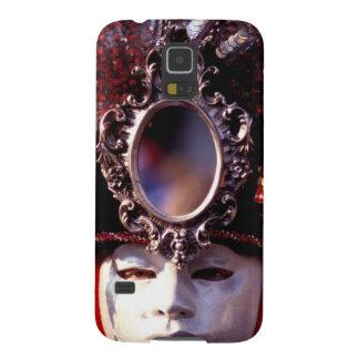 Verdeckter Mann mit extravagantem Karnevals-Hut Samsung S5 Cover