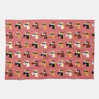 Verdecktes Einhorn-Muster Handtuch