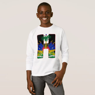 Verdecktes Wappen Haitis Klipp T-Shirt