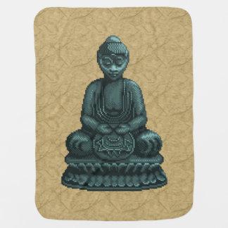 Verdigris-grüne Buddha-Pixel-Kunst Babydecke
