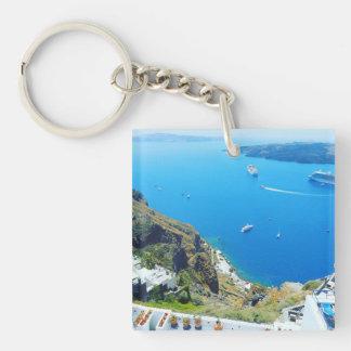 verdoppeln mit Seiten versehenes Griechenland Schlüsselanhänger