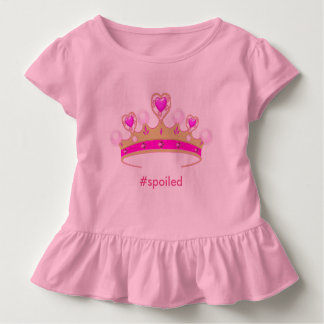 Verdorbene Prinzessin Toddler Ruffle Tee