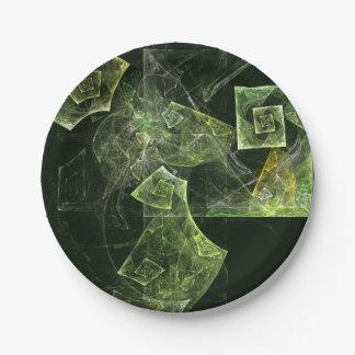 Verdrehte Balancen-abstrakte Kunst Pappteller