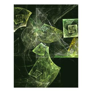 Verdrehte Balancen-abstrakter Kunst-Flyer 21,6 X 27,9 Cm Flyer