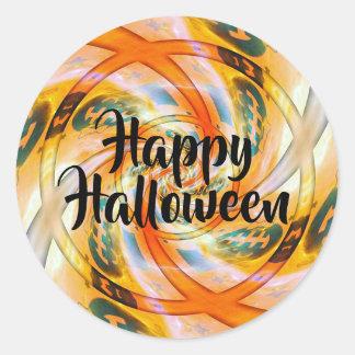 Verdrehte glückliche Halloween-Aufkleber Runder Aufkleber