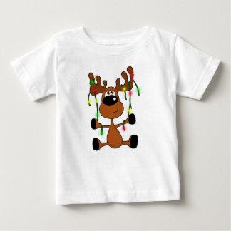 Verdrehte Weihnachtselche Baby T-shirt