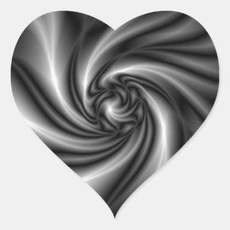 Verdrehter Künstler Herz-Aufkleber