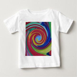 Verdrehter roter Strudel abstrakt Baby T-shirt