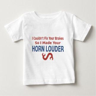 Verdrehter Schlüssel - Bremsen u. Horn Baby T-shirt