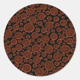 Verdunkelte orange Blasen Runder Aufkleber