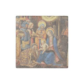 Verehrung der Könige (Adorazione dei Weisen) Steinmagnet