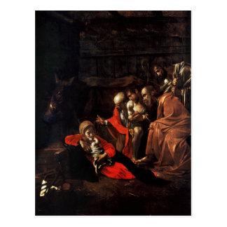 Verehrung der Schäfer durch Caravaggio (1609) Postkarte