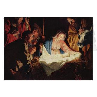 Verehrung der Schäfer-Weihnachtskarte Grußkarte