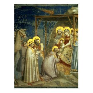 Verehrung der Weisen, c.1305 Postkarte