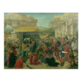 Verehrung der Weisen, c.1480 (Tempera auf Platte) Postkarte