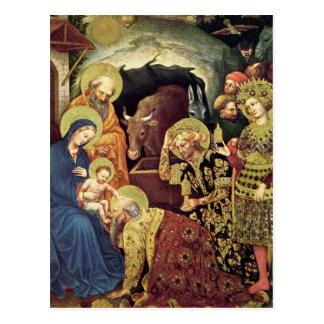 Verehrung der Weisen der Weise-(c1370-1427) in der Postkarte