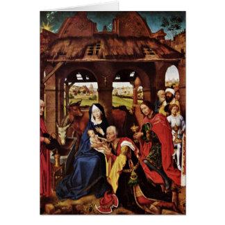 Verehrung der Weisen durch Rogier van der Weyden Grußkarte