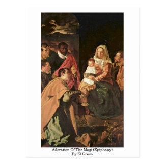 Verehrung der Weisen (Offenbarung) durch El Greco Postkarte