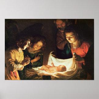 Verehrung des Babys c 1620 Plakat