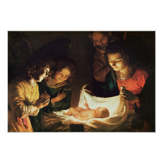 Verehrung des Babys, c.1620 Poster
