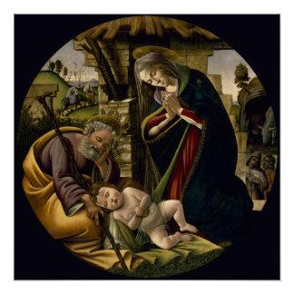 Verehrung des Christus-Kindes durch Botticelli Poster