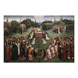Verehrung des Lamms Jan van Eyck 1429 Poster