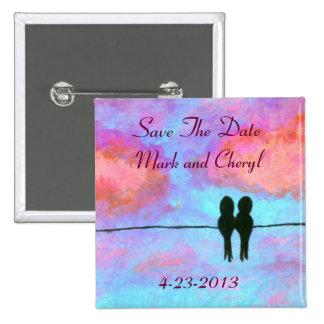 Verehrungs-Save the Date ursprüngliche Button