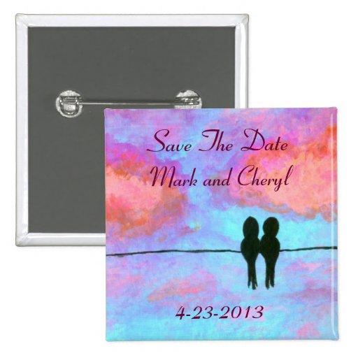 Verehrungs-Save the Date ursprüngliche Kunst-Maler Button