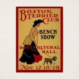 Verein Bostons Terrier Visitenkarte