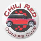 Vereinaufkleber des Chili-roten Inhabers Runder Aufkleber