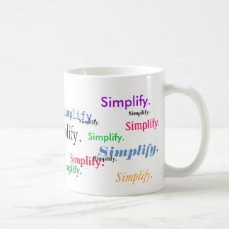 Vereinfachen Sie. (1 von 3) Kaffeetasse