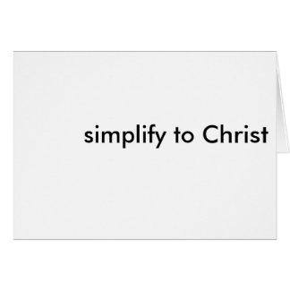 vereinfachen Sie zu Christus Karte