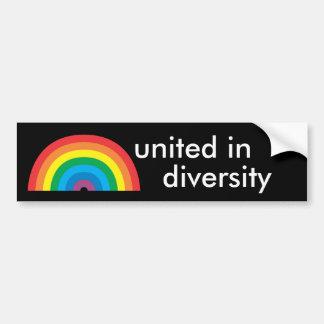 vereinigt im Diversity Autoaufkleber