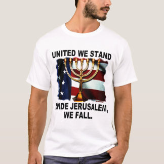 Vereinigt stehen wir Verteilung Jerusalem, das wir T-Shirt