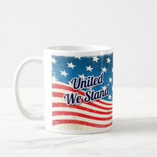 Vereinigt stehen wir Vintag Kaffeetasse